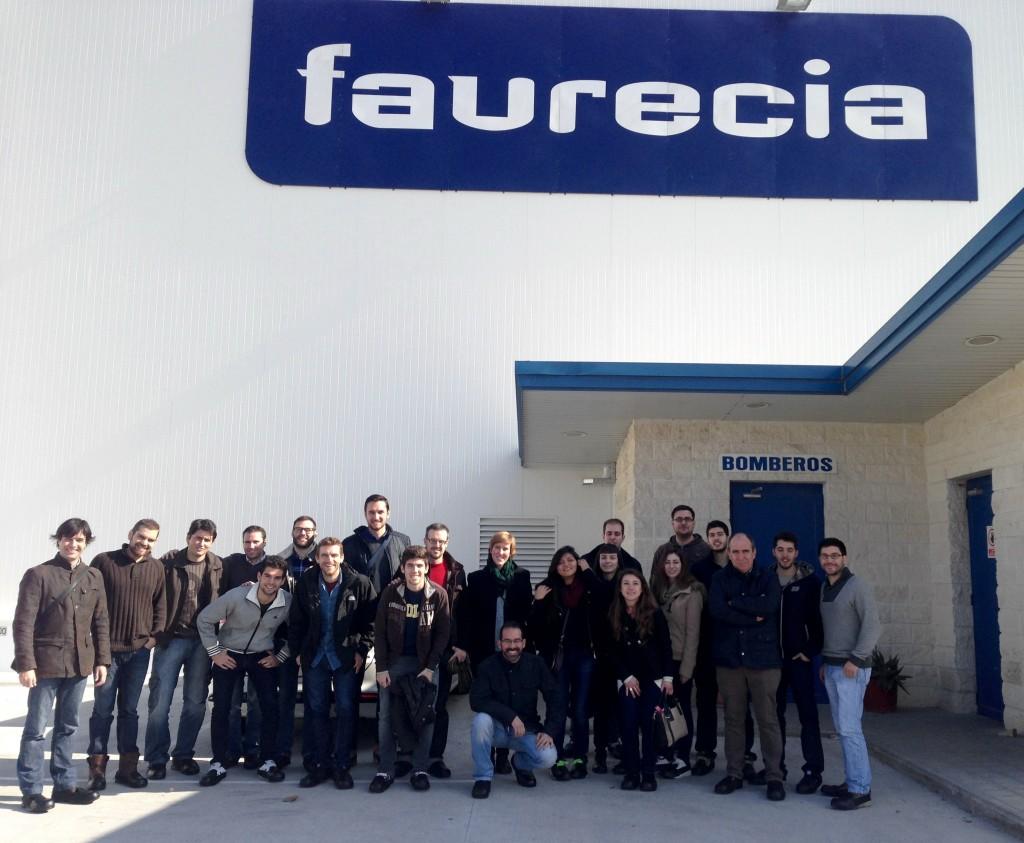 los alumnos del MUIOL en Faurecia