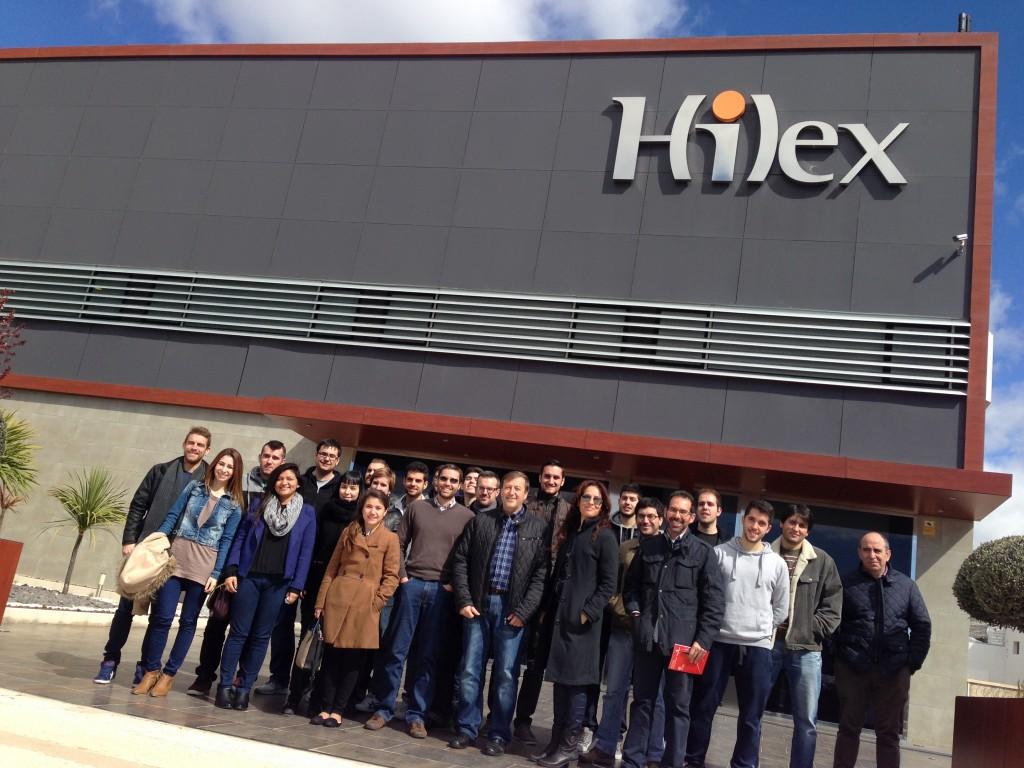 los alumnos del MUIOL visitan la empresa Hilex