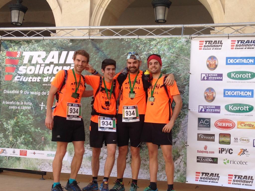los alumnos del MUIOL quedan en 1ª posición de equipos en el Trail solidari Ciutat d'Alcoi