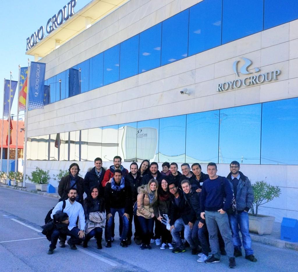 los alumnos del MUIOL visitan Royo Group
