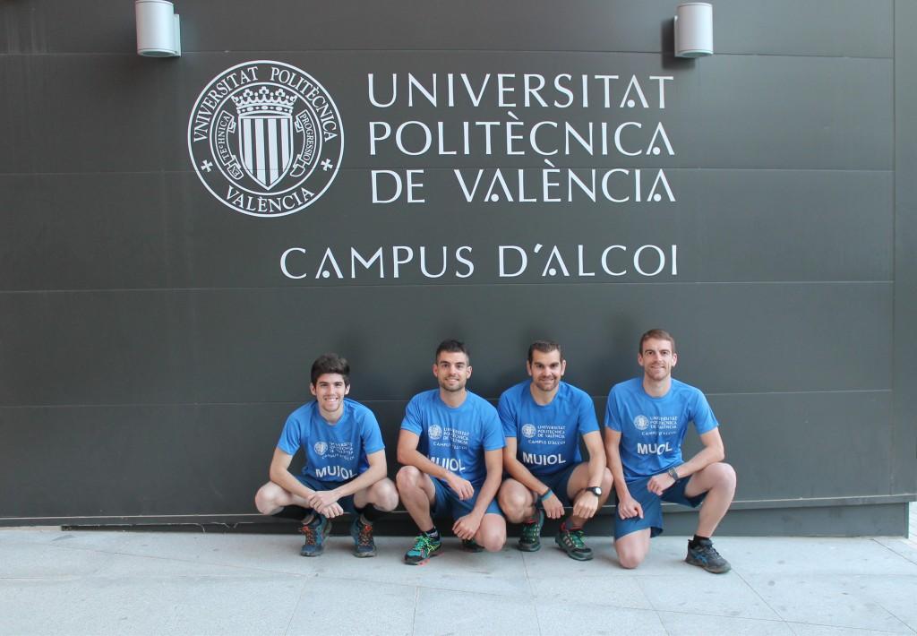 Equipo TRAIL MUIOL: Diego López, Juan Manuel Cebrián, Miquel García y Juan José Climent (de izquierda a derecha en la fotografía).