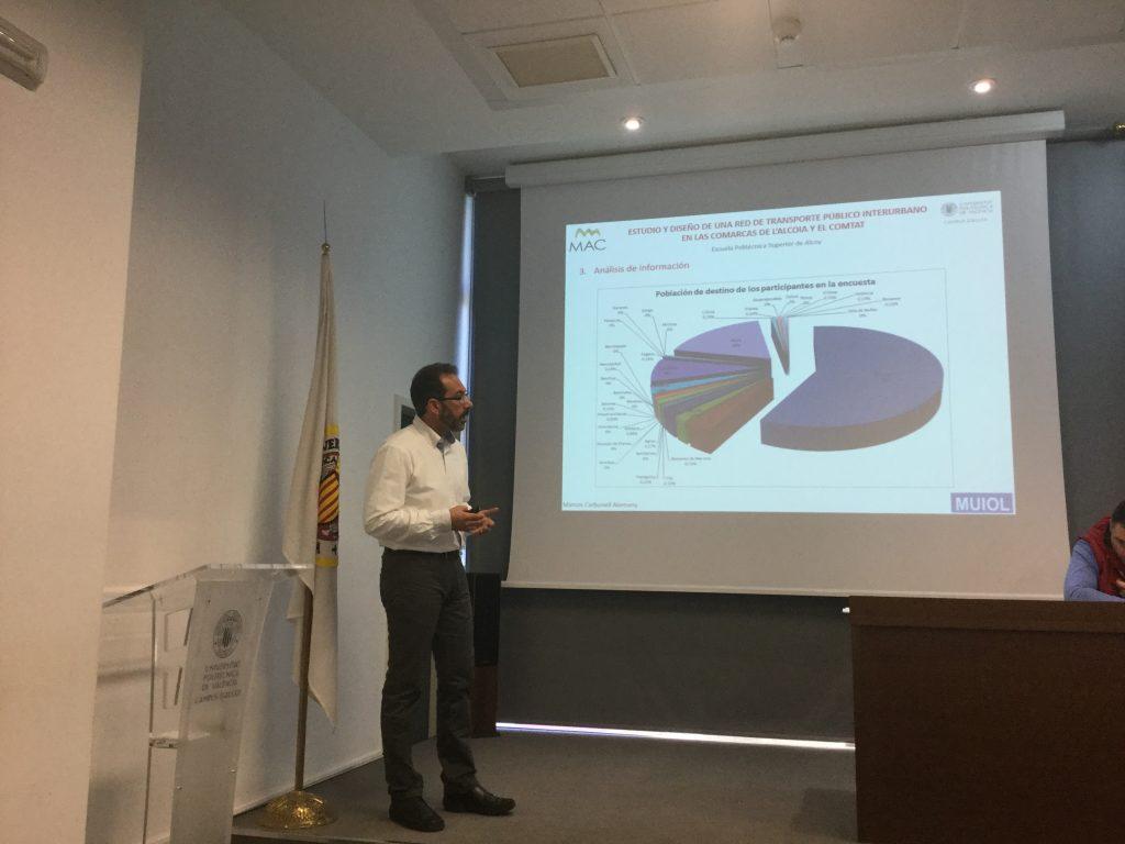 Marcos Carbonell en la presentación de tu Trabajo Fin de Máster